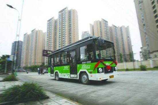 天府新区首条社区巴士今日开跑!